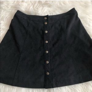 Abercrombie & Fitch 8 blue suede button down skirt